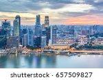 top views skyline business...   Shutterstock . vector #657509827