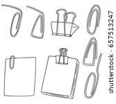 vector set of paper clip | Shutterstock .eps vector #657513247