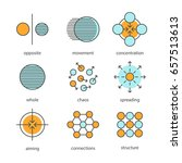 abstract symbols color icons... | Shutterstock .eps vector #657513613