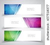 vector abstract design banner...   Shutterstock .eps vector #657518377