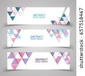 abstract banner design. vector...   Shutterstock .eps vector #657518467