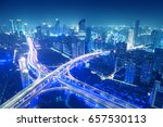 shanghai yan'an elevated road... | Shutterstock . vector #657530113