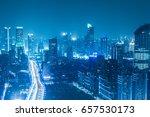 shanghai yan'an elevated road... | Shutterstock . vector #657530173