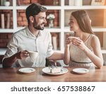 beautiful couple in love is... | Shutterstock . vector #657538867