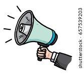 megaphone  cartoon vector and... | Shutterstock .eps vector #657539203