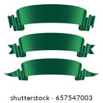 green ribbons banners set flat... | Shutterstock .eps vector #657547003