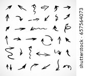 hand drawn arrows  vector set | Shutterstock .eps vector #657564073