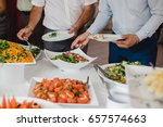catering food for wedding buffet | Shutterstock . vector #657574663