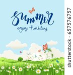 summer or spring landscape for... | Shutterstock .eps vector #657576757