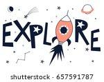 explore slogan illustration...   Shutterstock .eps vector #657591787