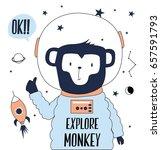 explore monkey illustration... | Shutterstock .eps vector #657591793