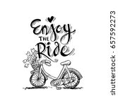 enjoy the ride | Shutterstock .eps vector #657592273