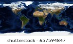 Earth Map In Expanded View. ...