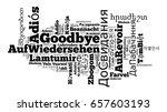 word goodbye in different... | Shutterstock . vector #657603193