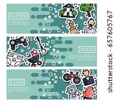 set of horizontal banners about ... | Shutterstock .eps vector #657605767