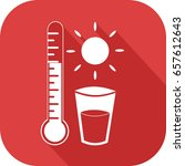 icon of a thermometer  a sun... | Shutterstock .eps vector #657612643