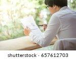 young asian business man... | Shutterstock . vector #657612703