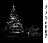Abstract Silver Christmas Tree...