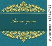 vintage invitation and wedding...   Shutterstock .eps vector #657617413