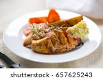 grilled chicken breast with...   Shutterstock . vector #657625243