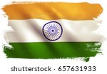 indian flag background with... | Shutterstock . vector #657631933