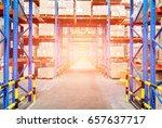 warehouse storage of retail... | Shutterstock . vector #657637717