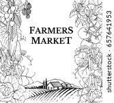 farmers market template. hand... | Shutterstock .eps vector #657641953