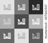 real estate sign. vector.... | Shutterstock .eps vector #657642547