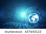 vector digital global... | Shutterstock .eps vector #657643123
