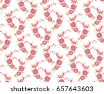 red seamless floral vector... | Shutterstock .eps vector #657643603