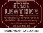 font.alphabet.vector.typeface... | Shutterstock .eps vector #657655003
