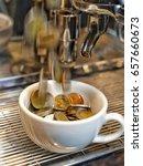 money coin growing in coffee...   Shutterstock . vector #657660673