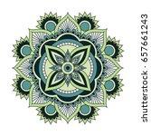 flower mandalas. vintage... | Shutterstock .eps vector #657661243