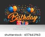 happy birthday typographic... | Shutterstock .eps vector #657661963