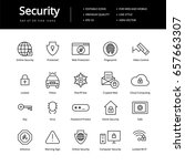 security line icons.  | Shutterstock .eps vector #657663307