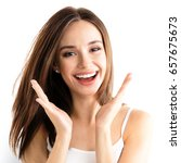 young woman showing smile  in... | Shutterstock . vector #657675673