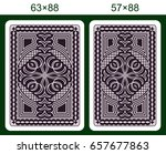 playing card back side design....   Shutterstock . vector #657677863