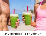 green smoothie fit fitness... | Shutterstock . vector #657688477