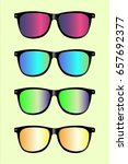 cool colorful sunglasses filter ...   Shutterstock .eps vector #657692377