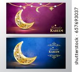 ramadan greetings vector | Shutterstock .eps vector #657693037