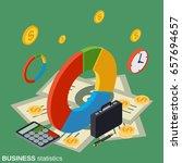 business statistics  financial... | Shutterstock .eps vector #657694657