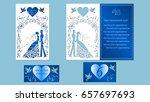 wedding  bridegroom  bride ... | Shutterstock .eps vector #657697693