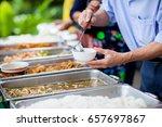 food buffet catering dining... | Shutterstock . vector #657697867
