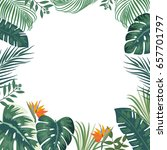vector tropical jungle... | Shutterstock .eps vector #657701797