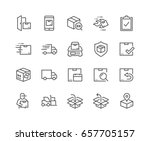 simple set of shipping related... | Shutterstock .eps vector #657705157