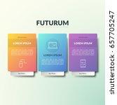 three separate rectangular... | Shutterstock .eps vector #657705247