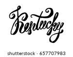 usa state kentucky hand... | Shutterstock .eps vector #657707983