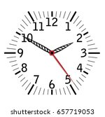 simple black and white clock... | Shutterstock . vector #657719053
