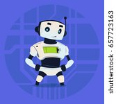 cute robot happy smiling modern ... | Shutterstock .eps vector #657723163