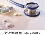 concept of prescription of... | Shutterstock . vector #657730057